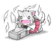 ティッシュで遊ぶ瑞鶴ネコ