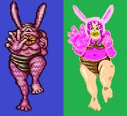 PCエンジン版リンダキューブ動物擬人化・ノミ(ウサギ)
