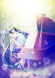 ミクさんと白いピアノ