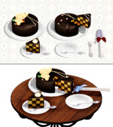 【配布】チョコケーキセット