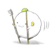 竹馬するヒツジ