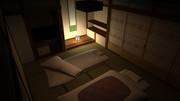 【3D】和風旅館の客室