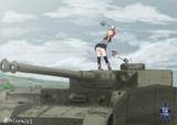 艦砲で戦車を叩きまくるプリンツ