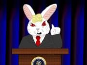 ウサギと化したトランプ