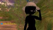 黒い影が帽子を持ち去ったのだー!