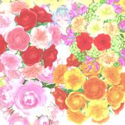花とミクちゃん。