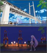 【MMD】埠頭と海沿いの遊歩道【ステージ配布】