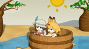 【GIFアニメ】ある日のサーバルちゃんとかばんちゃん