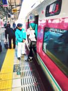 岡山駅にて。