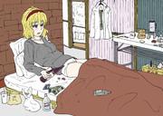 酒で現実から逃れようとするアリス