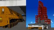 【MMD】ロケット発射台とドーリーを更新しました【MMDステージ配布】