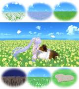 【MMD】揺らぐお花畑【ステージ配布】