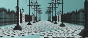 街燈と石畳【ステージ・アクセサリ配布】