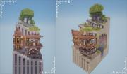 【Minecraft】階段の町