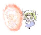 チルノは大妖精のバフによって日焼けしてパワーアップした説