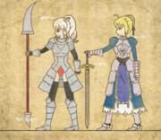 【女騎士】アルトリアとシロサイ