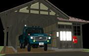【OMF7】ボンネットトラックと木造車庫