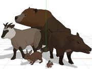 【配布】日本の野生動物セット(OMF7参加対象分)