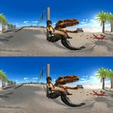 【360° VR 3D画像 4K】恐竜がいた海岸 VRA02