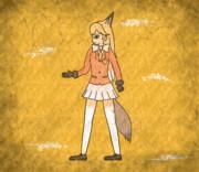 【壁画】キタキツネ