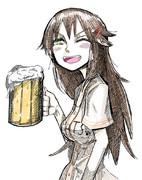 祝杯をあげる姫川友紀