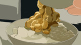 納豆を食べる赤城さん