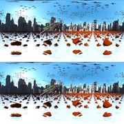【360° VR 3D画像 4K】鯨とピアノ VRA06