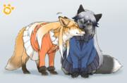 キタキツネさんとギンギツネさん