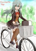 自転車通学の鈴やん