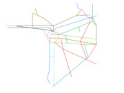 自分の覚えてる限りで書いた、関西圏の路線図