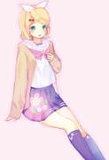 桜模様のセーラー服リンちゃん