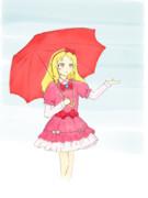 雨の日のエルフ先生