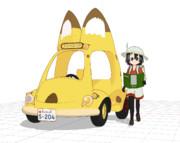 【モデル配布】交通式ジャパリバス改【MMDけもふれ】