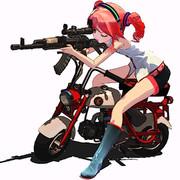 銃とバイク①【第七回ガンアクションinMMD】