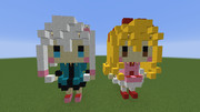 【minecraft】紗霧とエミリーっぽい何か【ドットアート?】