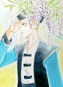 なめ七と藤の花