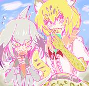 ジャガーさんとハシビロちゃん