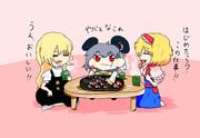 みんなで食べるMGR寿司