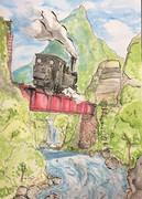 夏と機関車