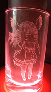 トキちゃんグラス