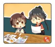 ちっさい加賀と鳳翔さん