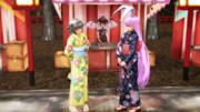 鈴仙先輩と妖夢(夏祭り)
