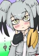 ツイッター企画用に描いたハシビロコウさん(*´ω`*)