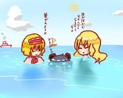 一緒に海に行くSZ姉貴