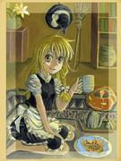 ハロウィンの夜には魔理沙とお茶など、どうですか?