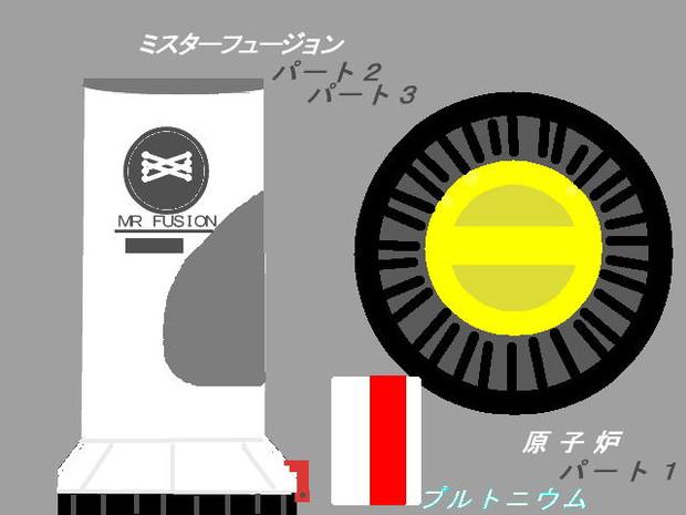 ミスターフュージョンと、原子炉(プルトニウム付き... ミスターフュージョンと、原子炉(プルトニ