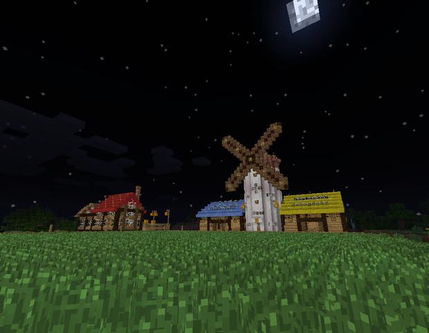 【Minecraft】牧場の夜景【初音牧場】 【Minecraft】牧場の夜景【初音牧場】 /