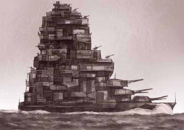 超要塞戦艦! 超要塞戦艦! / nas さんのイラスト - ニコニコ静画 (イラスト)