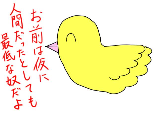 カッコカワイイ宣言! 鳥Tシャツ WHITE S (キャラ …