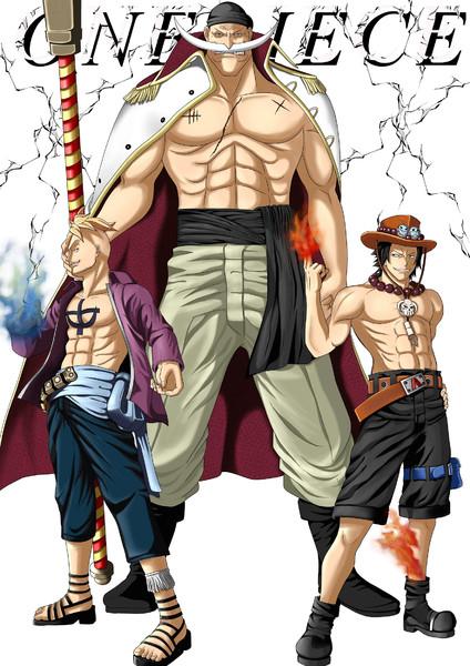 白ひげ海賊団の三人。
